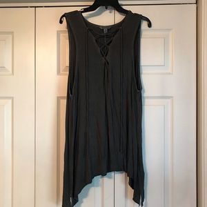 American Eagle Soft & Sexy Lace-Up Tank Top